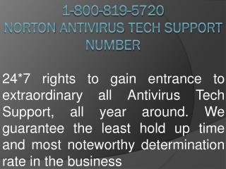 1-800-819-5720 norton antivirus tech support number