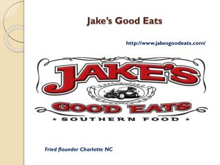 Grit cakes, Fried flounder and Southern Cuisine Charlotte NC