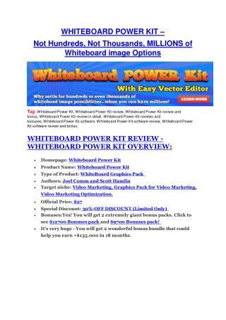 Whiteboard Power Kit Review-(GIANT) bonus & discount