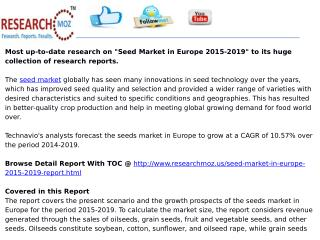 Seed Market in Europe 2015-2019