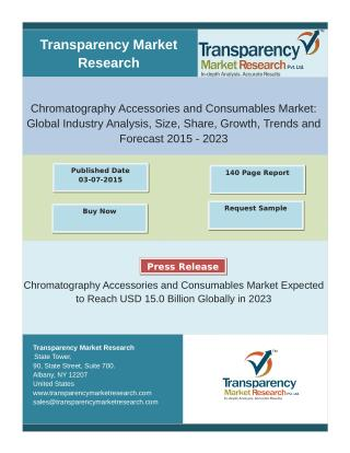 Chromatography Accessories and Consumables Market Expected to Reach USD 15.0 Billion Globally in 2023