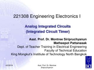 221308 Engineering Electronics I
