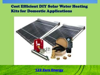 DIY Solar Water Heating Kits