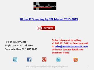 Global IT Spending by 3PL Market 2015-2019