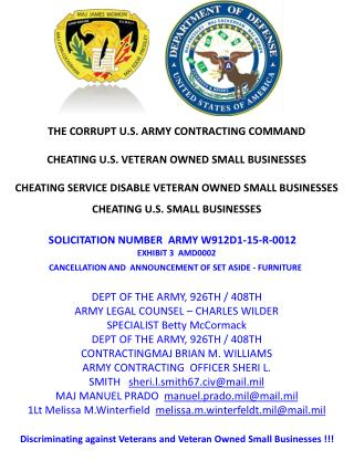 Blog 23 USMC 20150725 SOLICITATION NUMBER  ARMY   W912D1-15-R-0012 -EXHIBIT 3  AMD0002     CANCELLATION AND  ANNOUNCEMEN