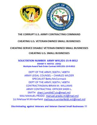 Blog 24 USMC 20150725 SOLICITATION W912D1-15-R-  0012 - EXHIBIT 5  MATOC   (IDIQ) Multiple Award   Task Order Contract