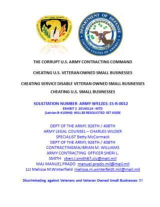 Blog 26 USMC 20150725 SOLICITATION NUMBER  ARMY   W912D1-15-R-0012 -EXHIBIT 2  20140114 - MTD   (Latvian B-410946)  WILL