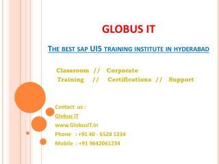 SAP Ui5 Training in Hyderabad