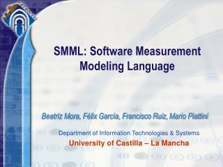 SMML: Software Measurement Modeling Language