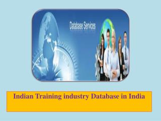 Indian Training industry Database in India