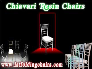 Chiavari Resin Chairs - 1st folding chairs Larry