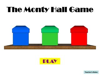The Monty Hall Game