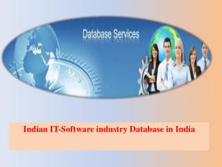 Indian IT-Software industry Database in India