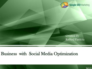 Business with Social Media Optimization
