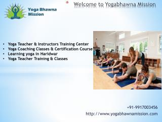 Yoga Teacher & Instructors Training Center Haridwar, India