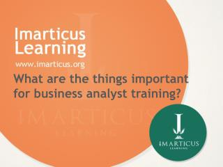 What are the things important for business analyst training?