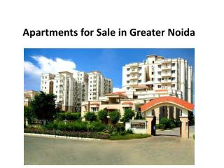 Apartments for sale in Greater Noida