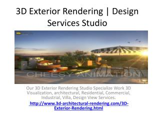 3D Exterior Rendering | Design Services Studio