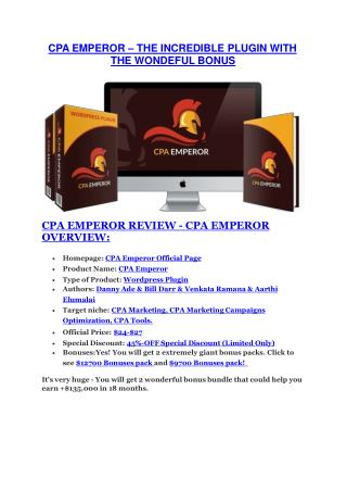 CPA Emperor REVIEW and GIANT $21600 bonuses