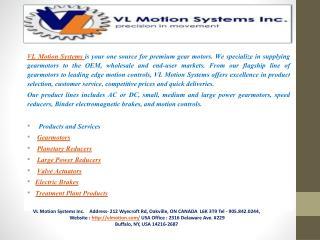 VL Motion Systems Inc-precision in movement