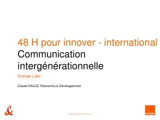 48 H pour innover - international Communication interg n rationnelle