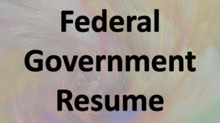 Federal Job Resume Example