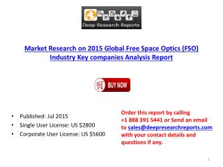 2015 Global Free Space Optics Industry Key companies Analysis Report