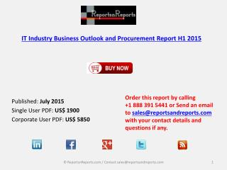IT Industry Global Procurement Budget Outlook H1 2015