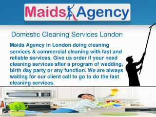Domestic Cleaning Services London UK