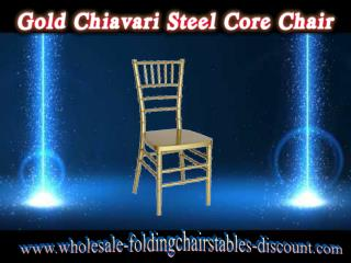 Gold Chiavari Steel Core Chair