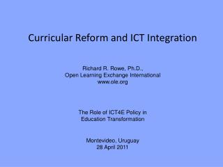 Curricular Reform and ICT Integration