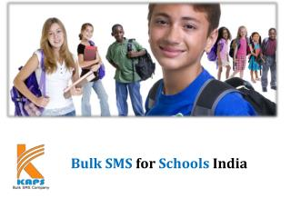 Bulk SMS for Schools India