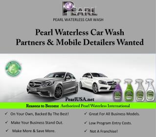 Pearl Waterless Car Wash Partners & Mobile Detailers Wanted