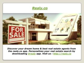 Realy.co Real Estate App