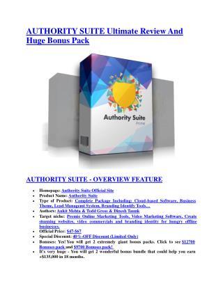 Authority Suite review-SECRETS of Authority Suite and $16800 BONUS