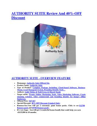 Authority Suite REVIEW and GIANT $21600 bonuses