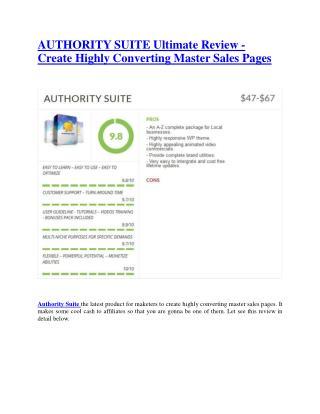 Authority Suite Review - Authority Suite DEMO & BONUS