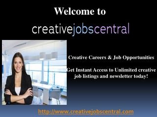 Internship opportunities at creative jobs central