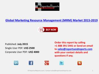 Global Marketing Resource Management (MRM) Market 2015-2019