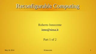 reconfigurable/fpga computing part 1