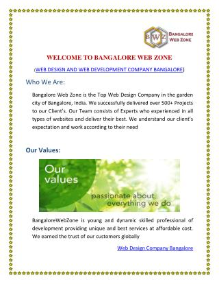Welcome to Bangalore Web ZOne-Web Design Company Bangalore