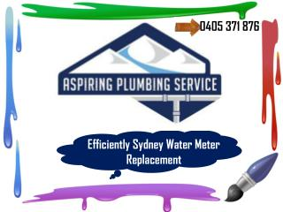 Efficiently Sydney Water Meter Replacement