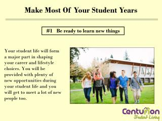 Make most of your student years