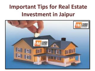 Important Tips for Real Estate Investment in Jaipur