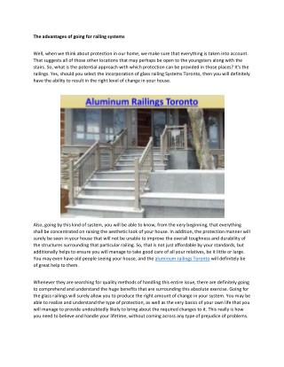glass railing systems Toronto
