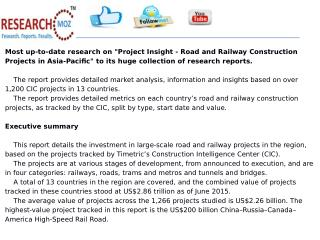 Project Insight - Road and Railway Construction Projects in Asia-Pacific