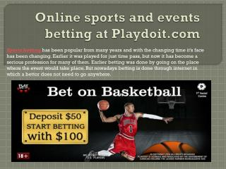 Online sports and events betting at Playdoit.com