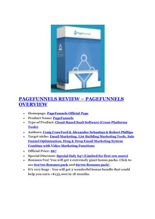 Page Funnels Success  review in particular - Page Funnels Success  bonus
