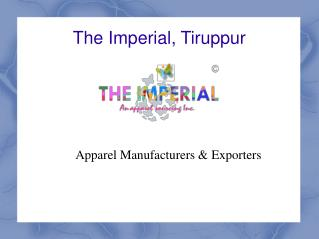 Apparel Manufacturers & Exporter