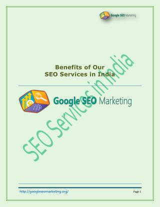 Benefits of Our SEO Services